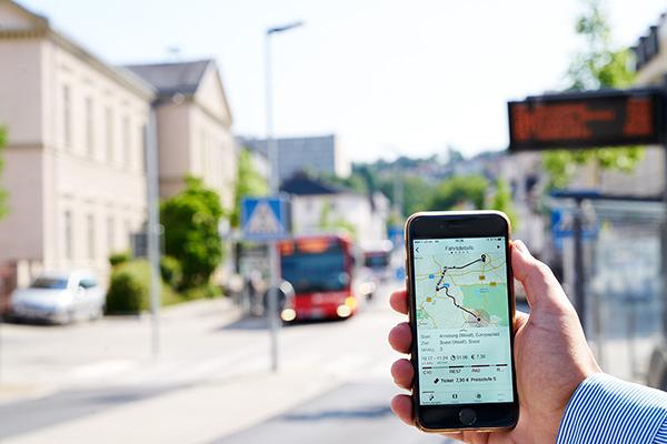 Big Bird mobil info App mit Fahrtverlauf mit Streckendetails