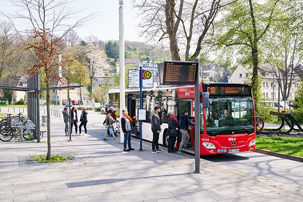 Busfahrt mit App