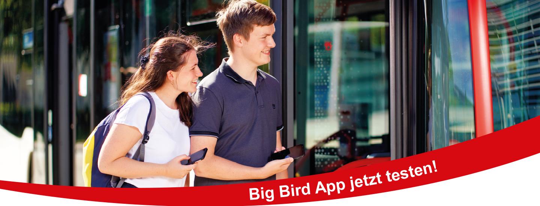 Jetzt Testfahrgast werden mit der Big Bird App